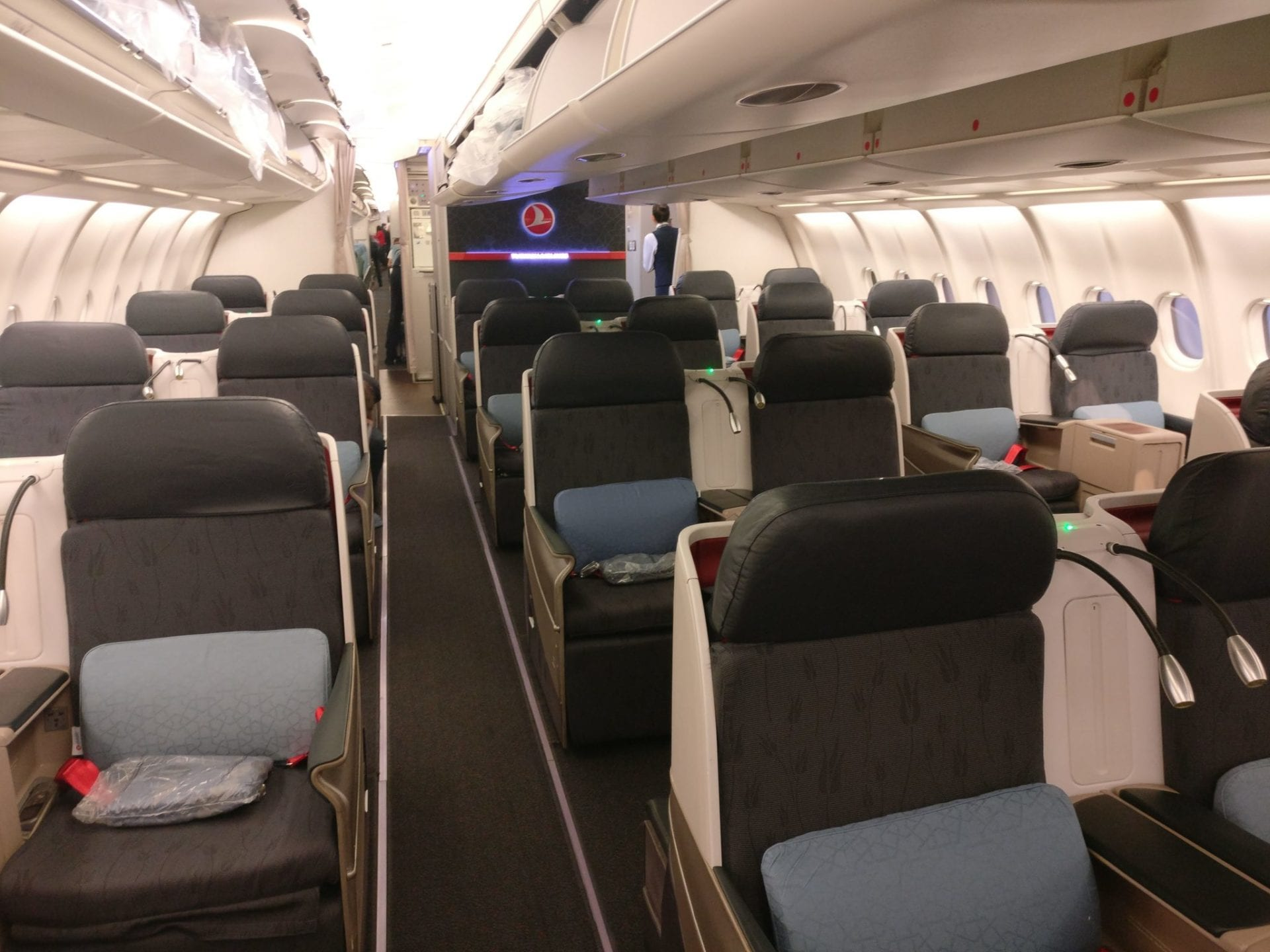turkish airlines business class airbus a330 cabin 2