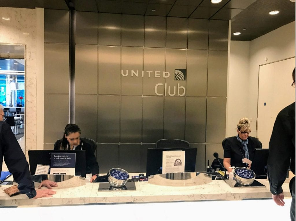 United Club London Heathrow Terminal 2B Eingangsbereich 2