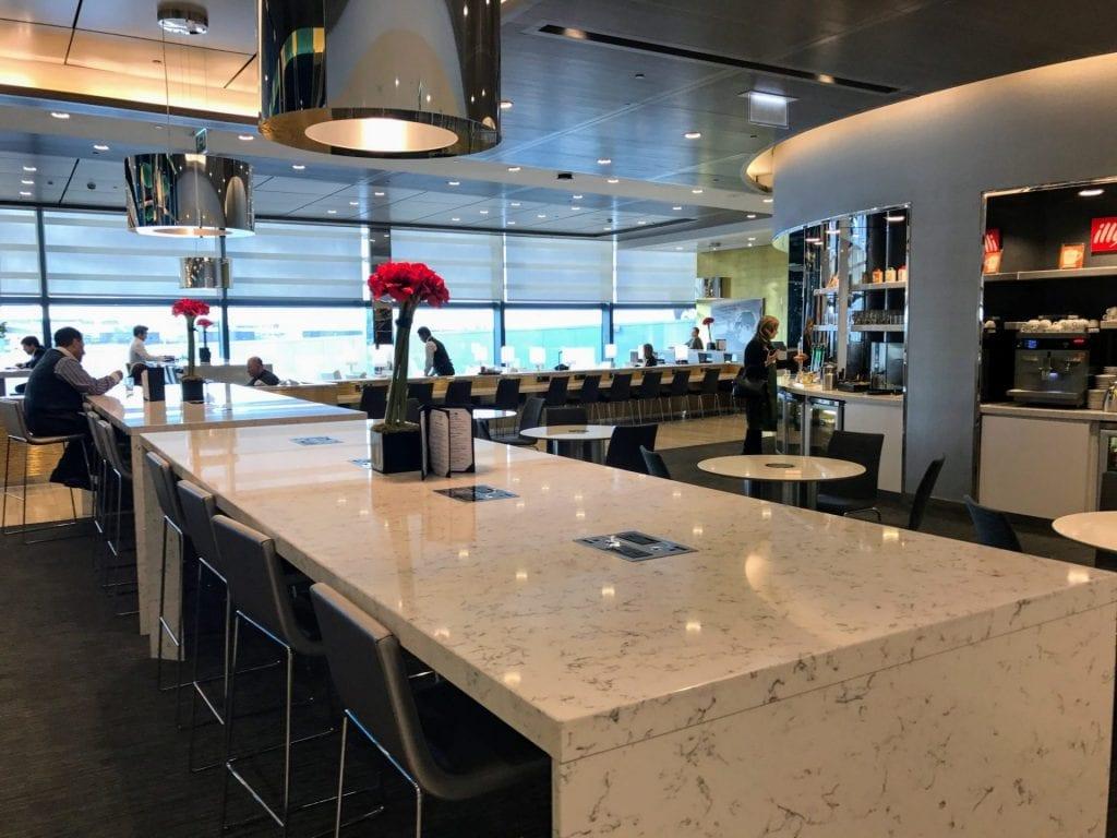 United Club London Heathrow Terminal 2B Sitzmöglichkeiten