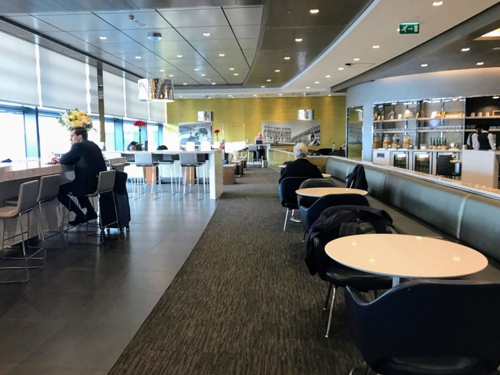 United Club London Heathrow Terminal 2B Sitzmöglichkeiten 3
