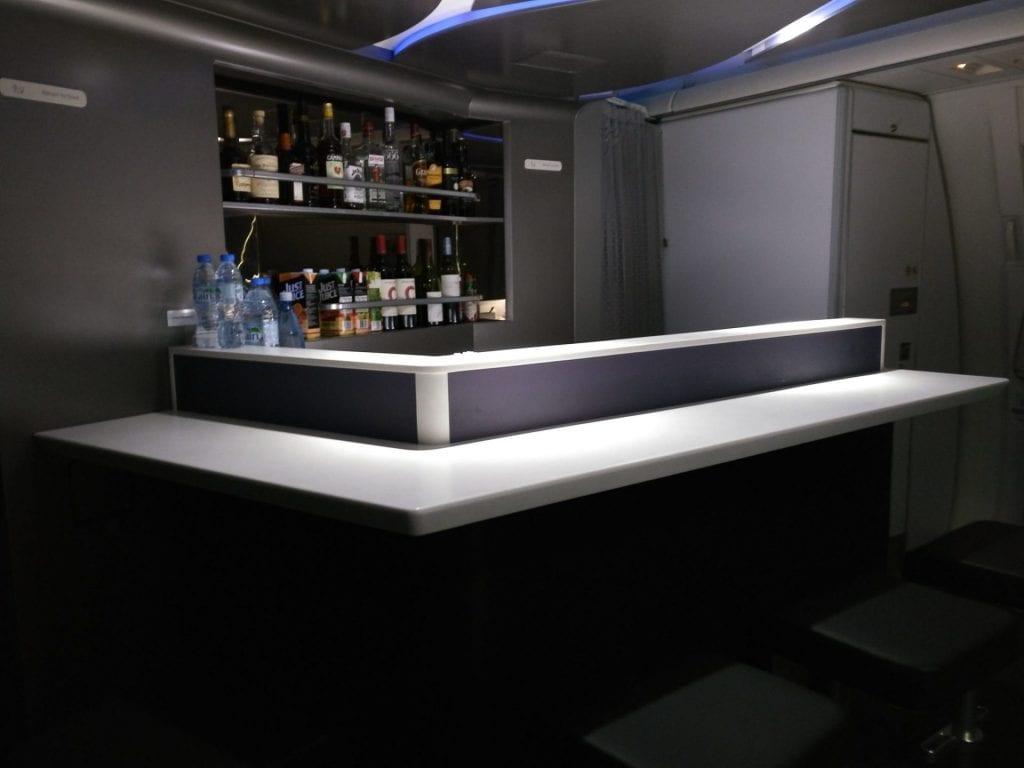 Virgin Australia Business Class Boeing 777 Bar