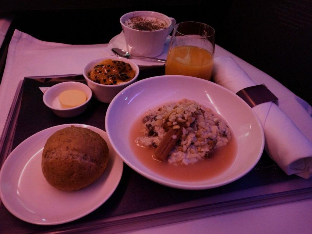 Virgin Australia Business Class Frühstücka