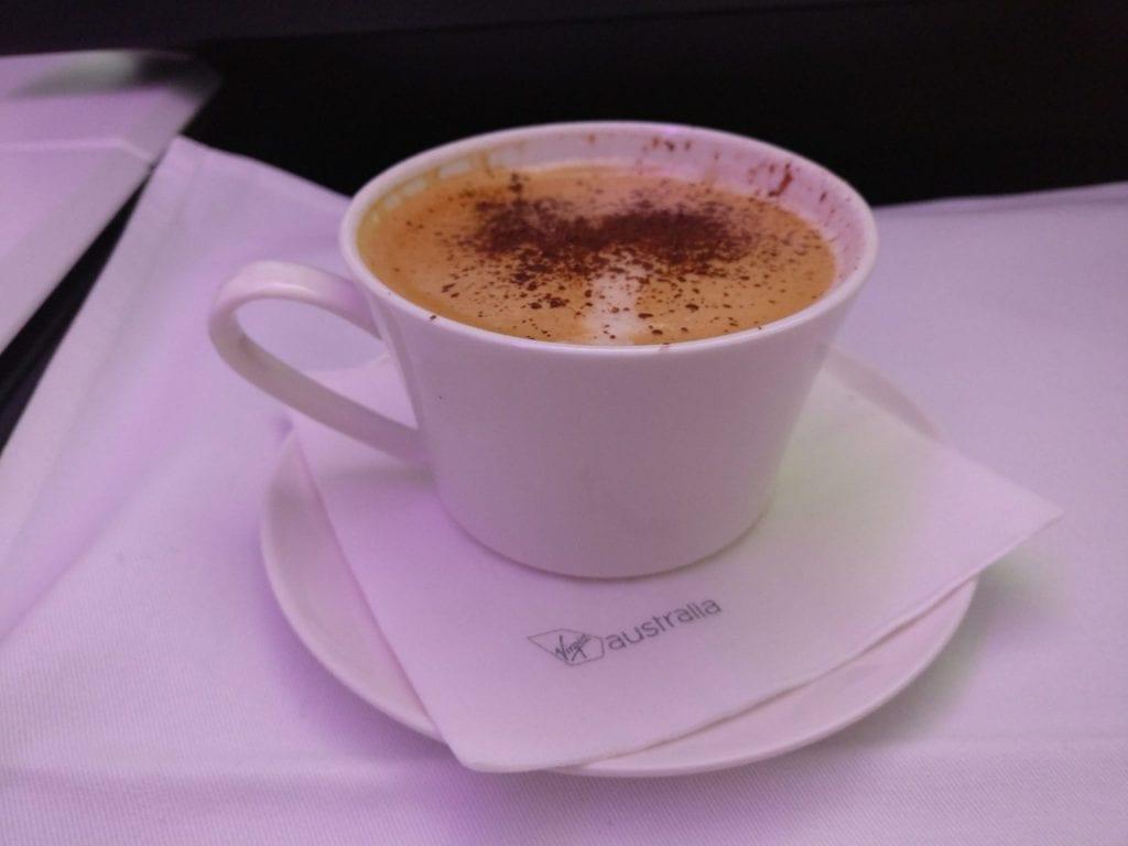 Virgin Australia Business Class Cappuccino