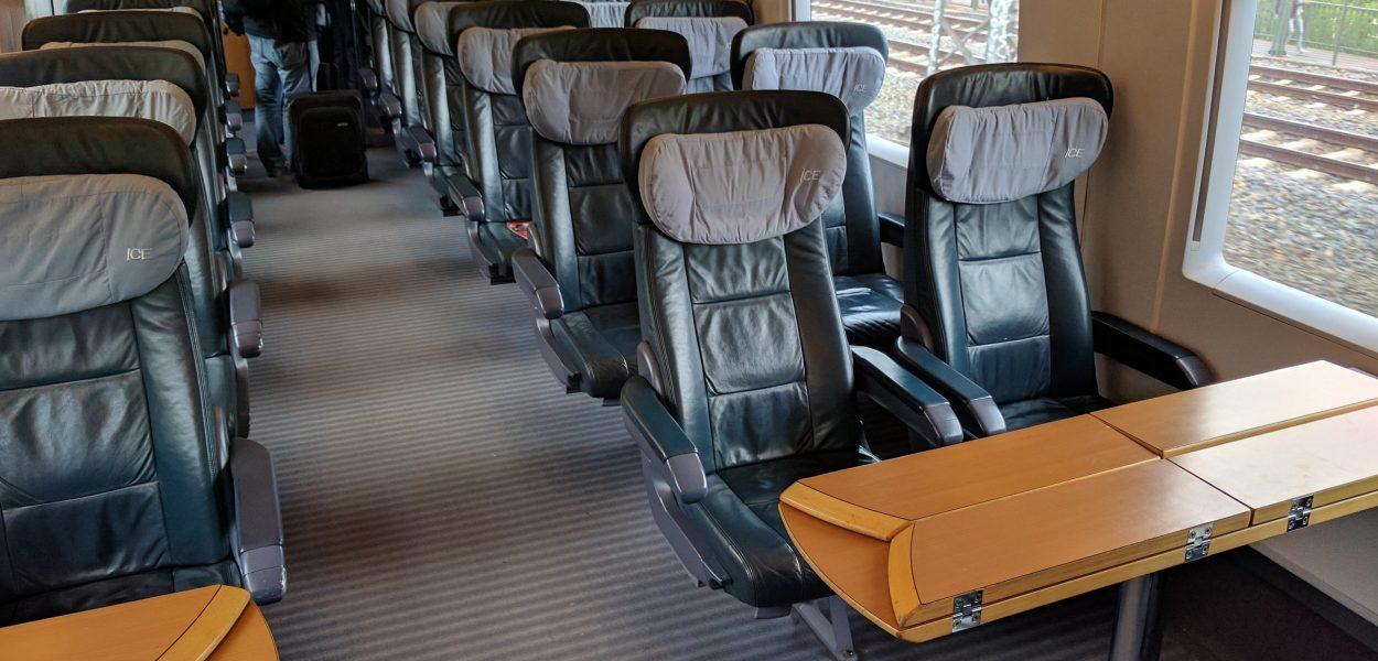 Deutsche Bahn Bahn ICE 1. Klasse