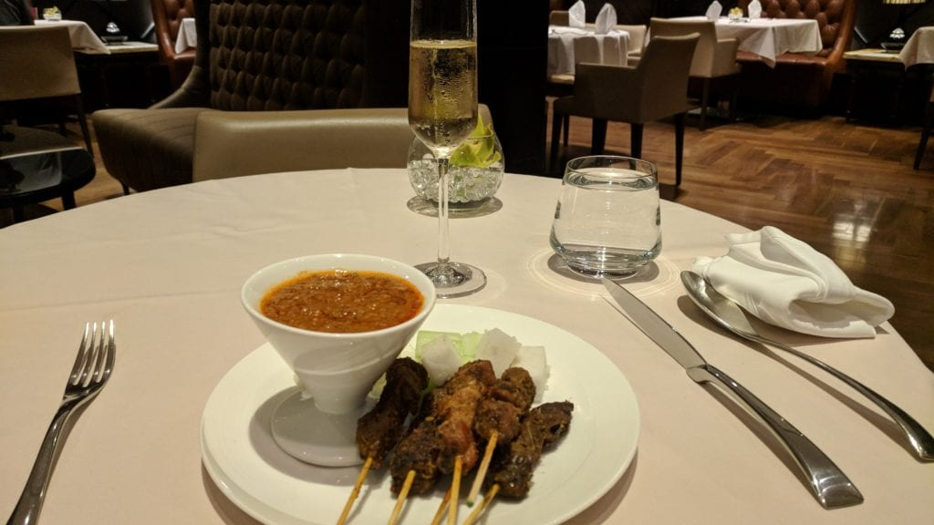 Singapore Airlines Private Room Satay