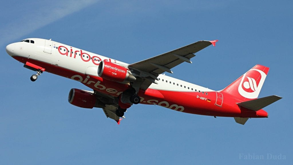 airberlin airbus a320 start