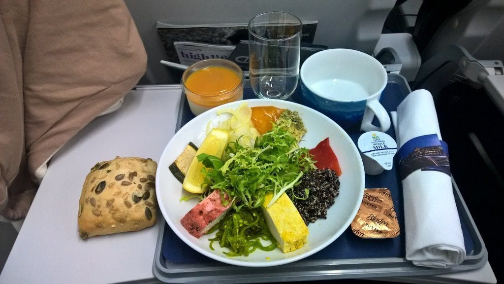 british airways a320 business class catering