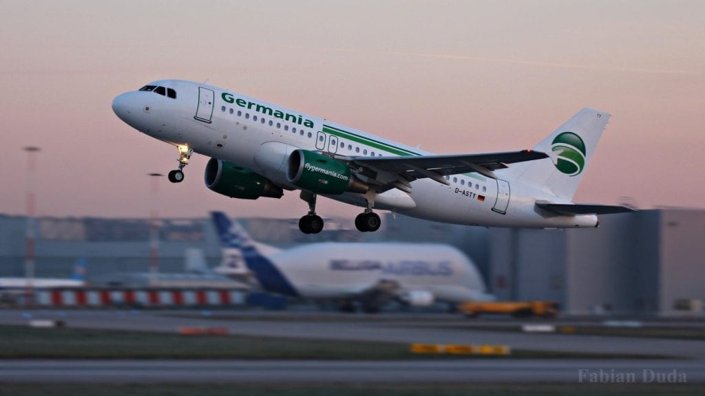 germania airbus a319 start