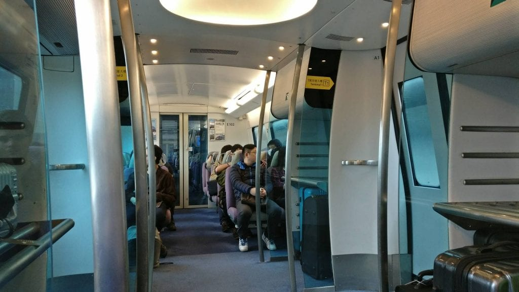 Hong Kong Metro vom Flughafen in die Stadt