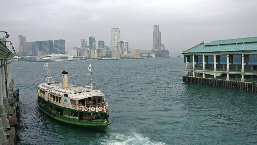hong kong stadt city wasser faehre kowloon