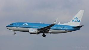 klm boeing 737 landeanflug