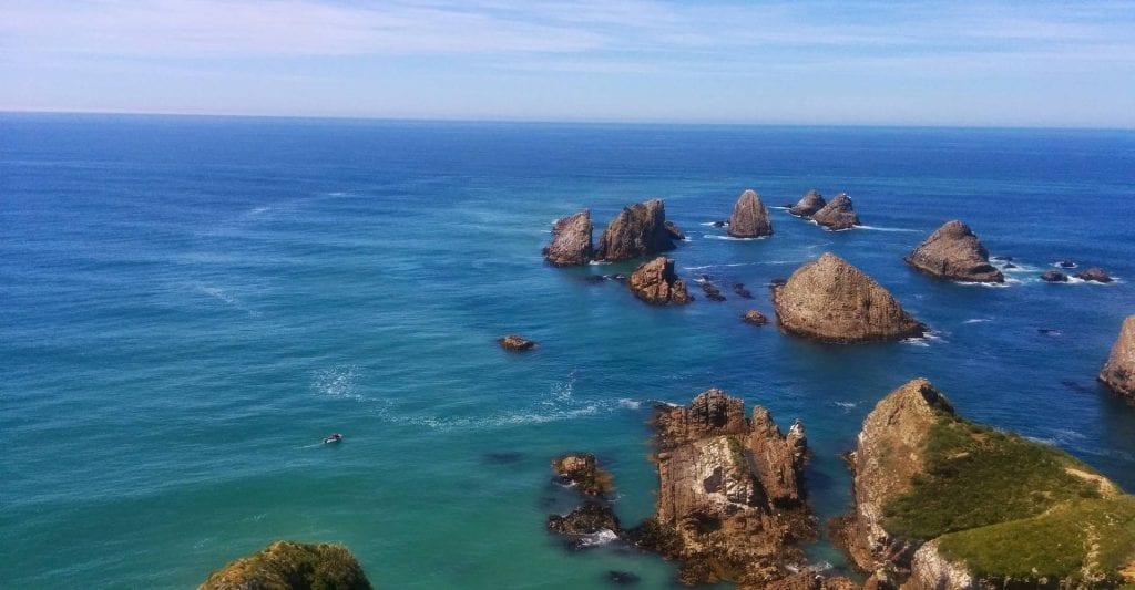 Die Küste vor Neuseeland