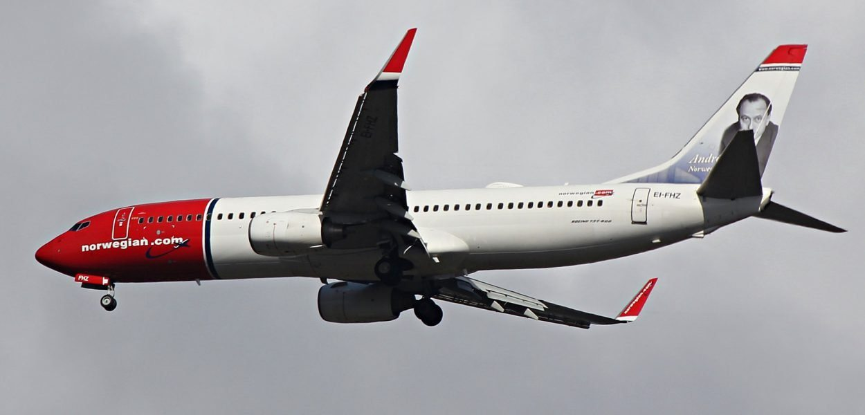 norwegian boeing 737 800 start