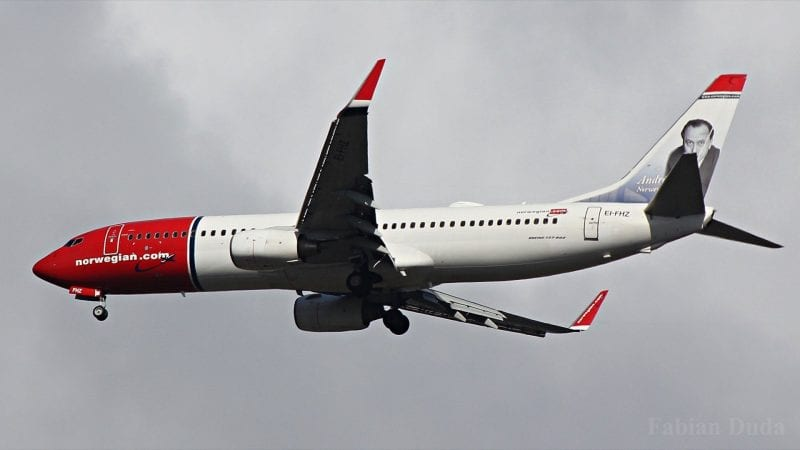 norwegian boeing 737 800 start