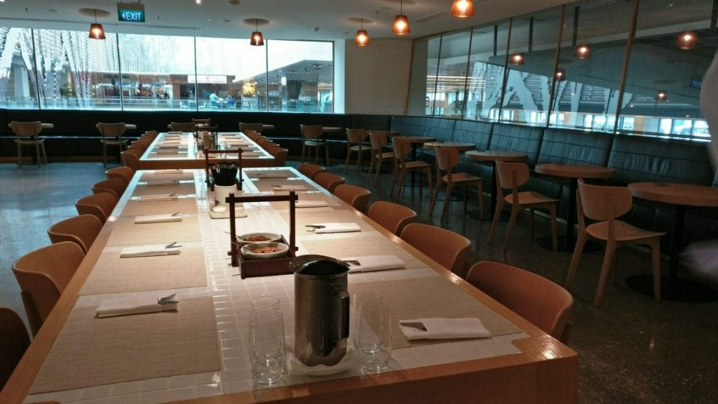 qantas lounge singapur restaurant