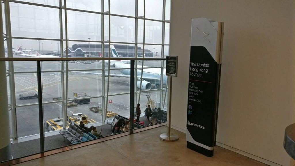 The Qantas Hong Kong Lounge Eingang & Zugang