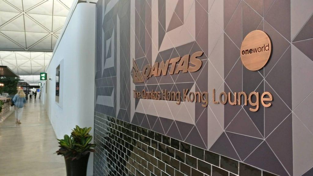 The Qantas Hong Kong Lounge Eingang
