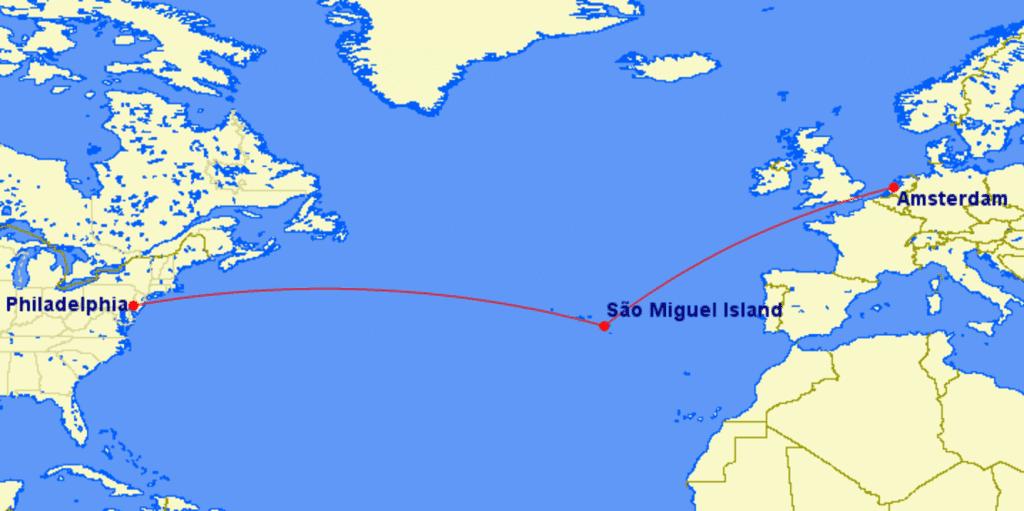 Azoren GCMap Zwischenlandung