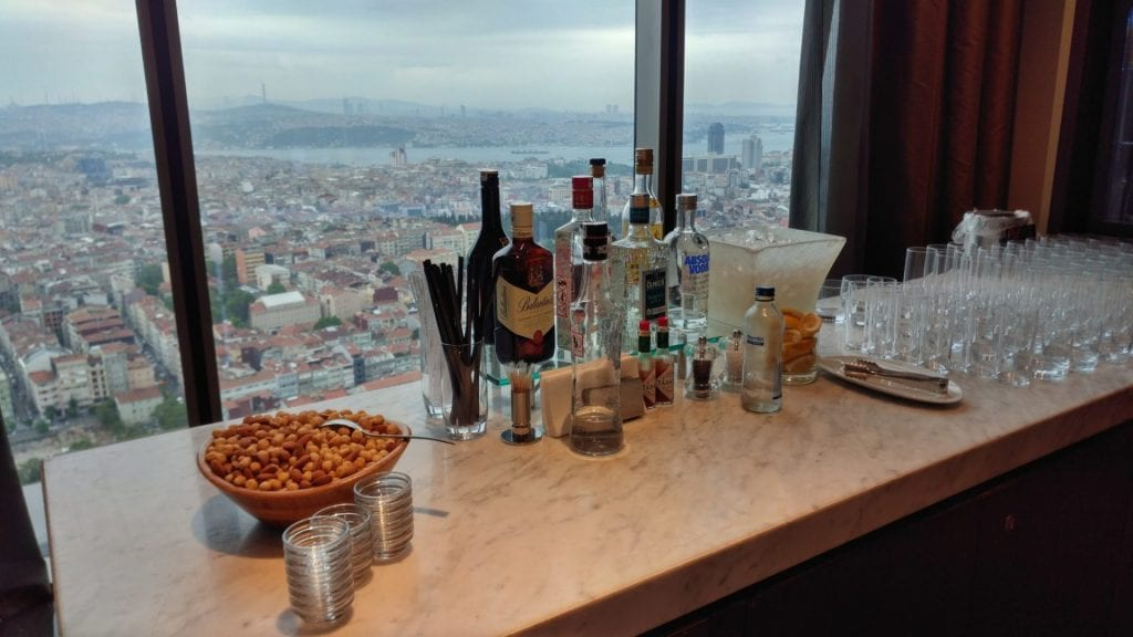 Hilton Istanbul Bomonti Executive Lounge Alcohol