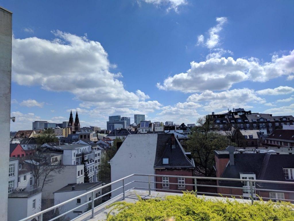 Le Meridien Hamburg Terrasse Aussicht