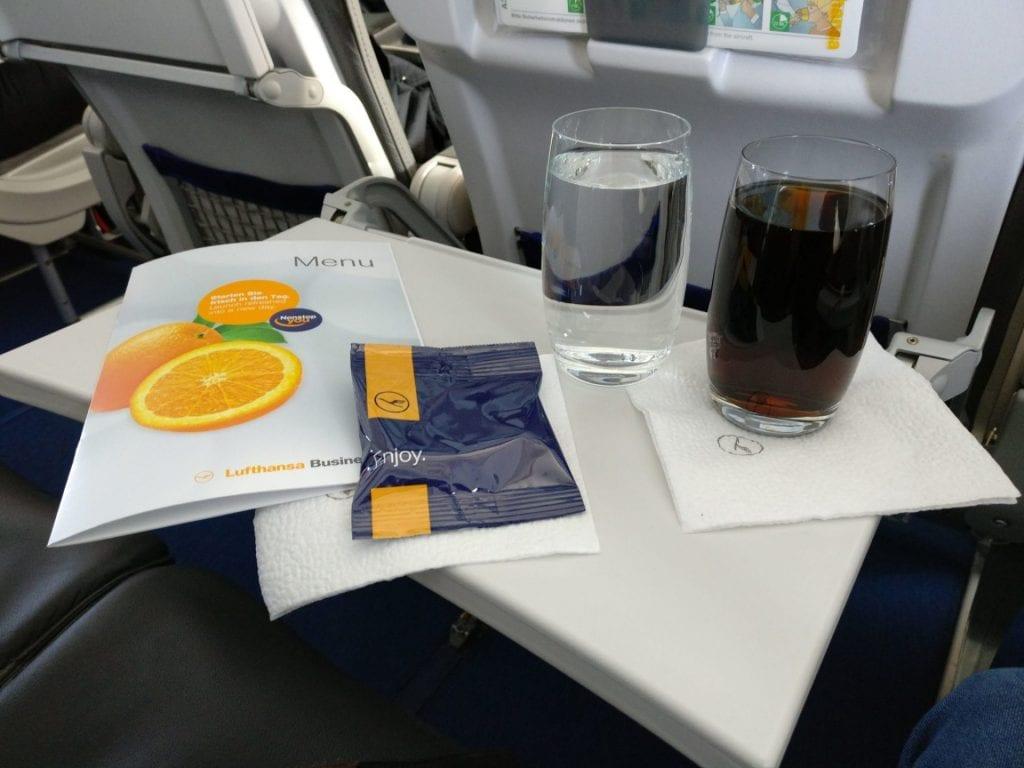 Lufthansa Business Class Mittelstrecke Snack