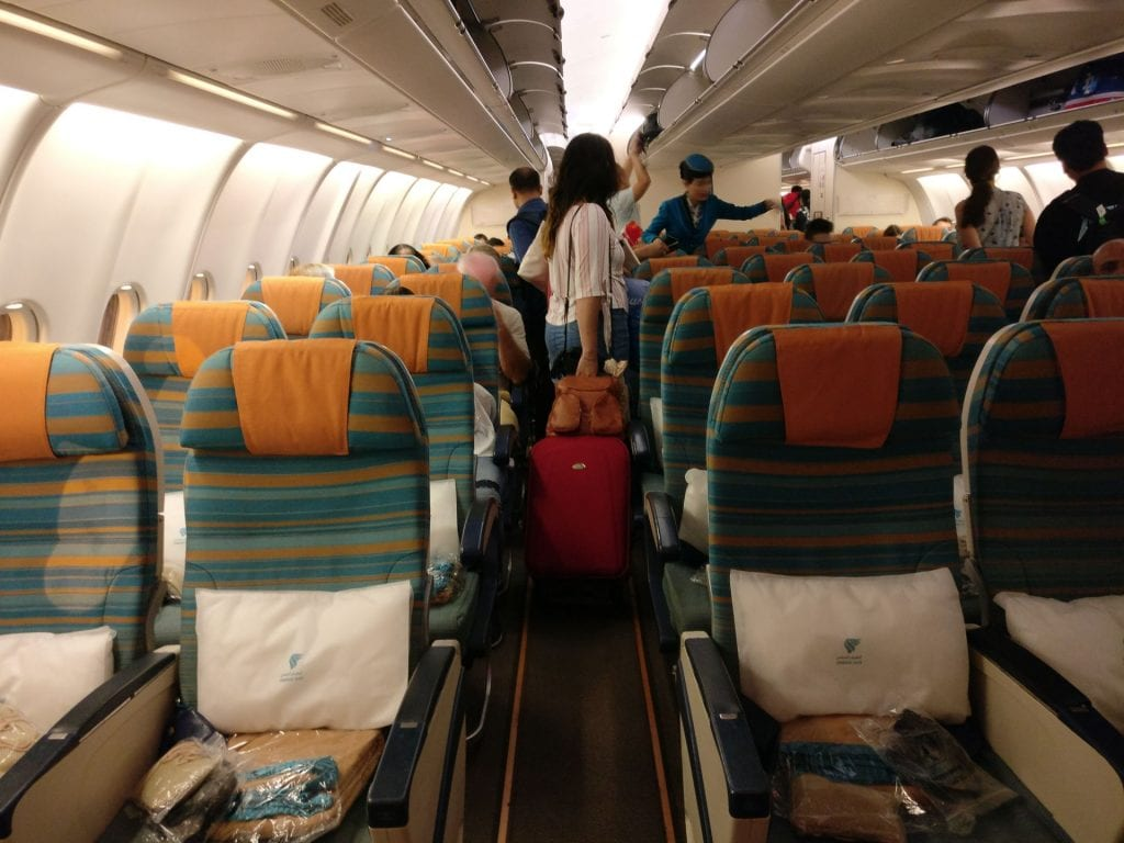 Oman Air Economy Class Airbus A330 Seating 4
