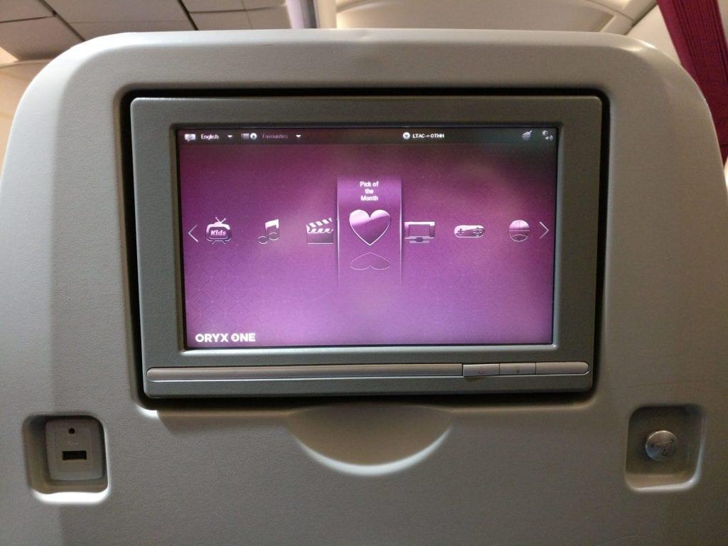Qatar Airways Economy Class Airbus A320 Entertainment