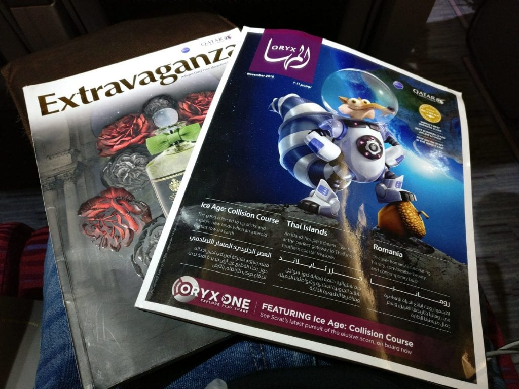 Qatar Airways Economy Class Airbus A320 Magazines