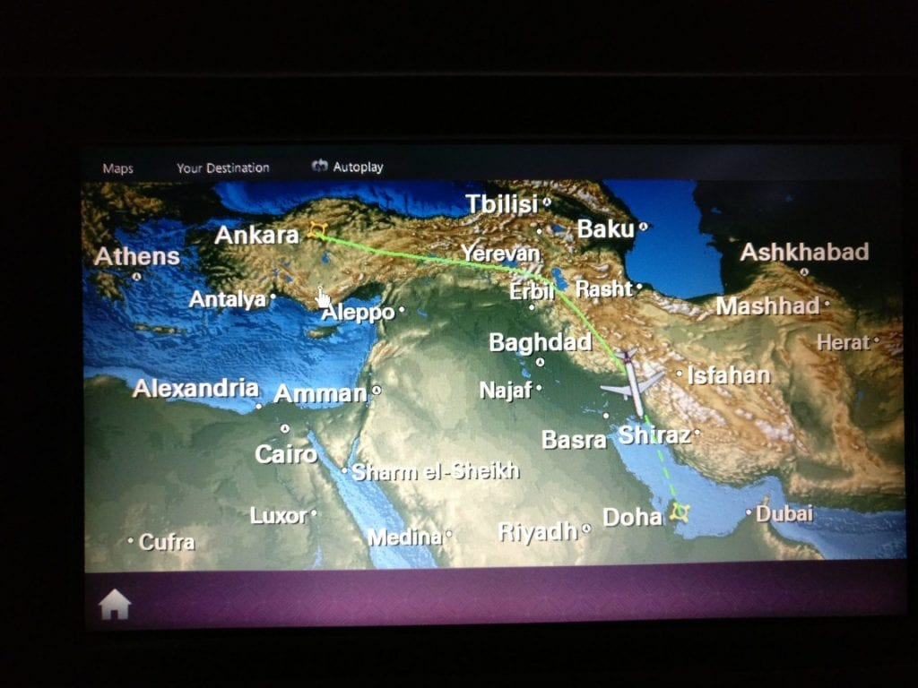 Qatar Airways Economy Class Airbus A320 Seating Entertainment 6