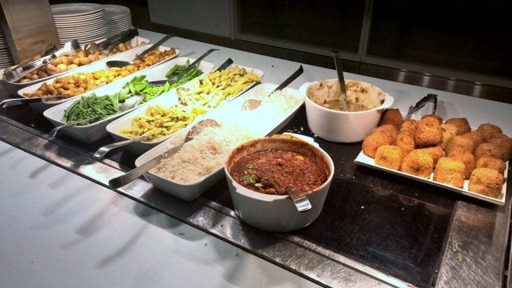 british airways galleries first class lounge london buffet 6