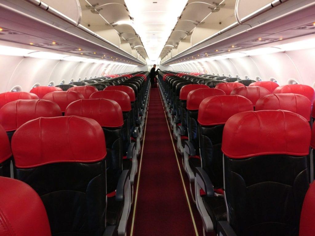 Air Asia Airbus A320 Cabin