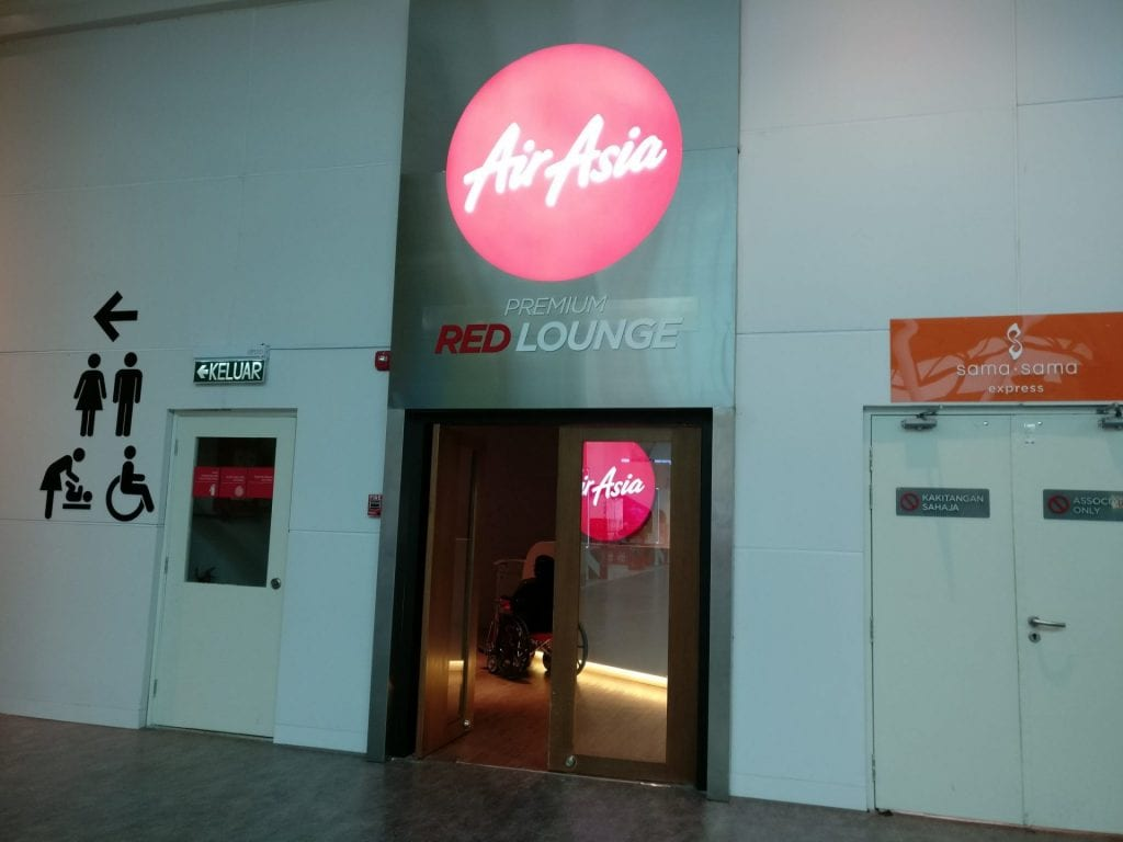 Air Asia RED Lounge KLIA2 Entrance