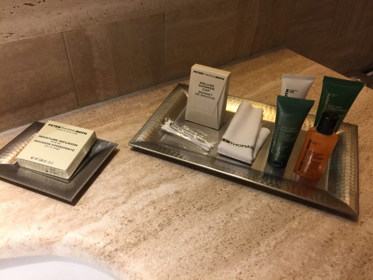 Hilton Rome Airport Executive Zimmer Bad Amenities