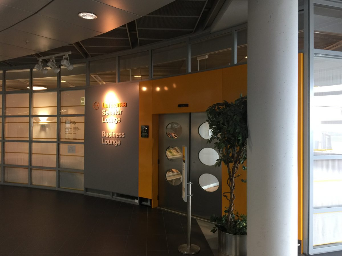 Lufthansa Business Lounge Dresden Eingang