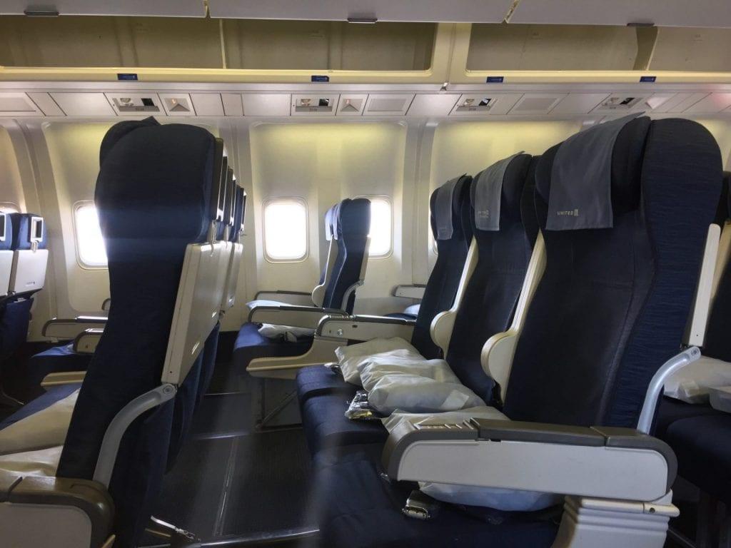 United Economy Class Langstrecke Sitz