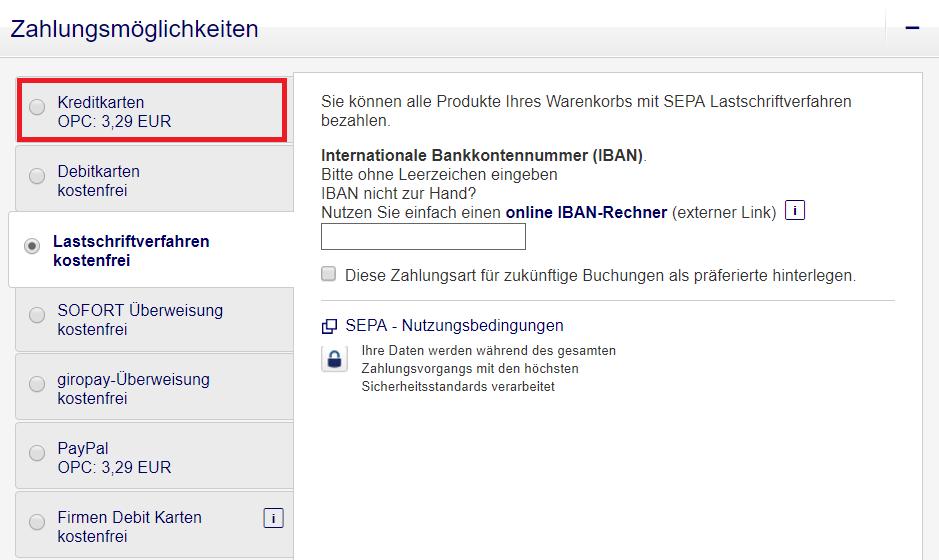 Zahlungsmöglichkeiten Lufthansa