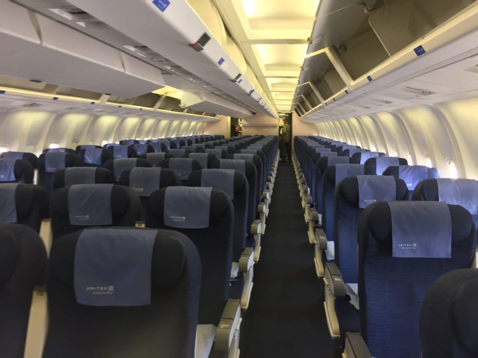 united economy class langstrecke kabine