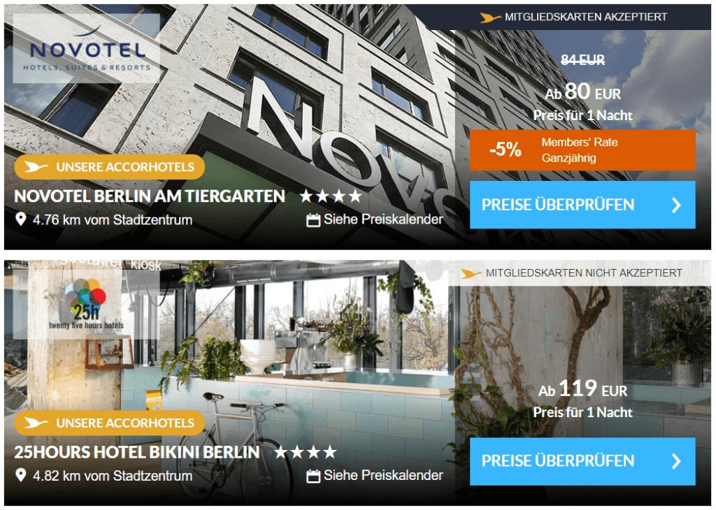 Accorhotels Buchung