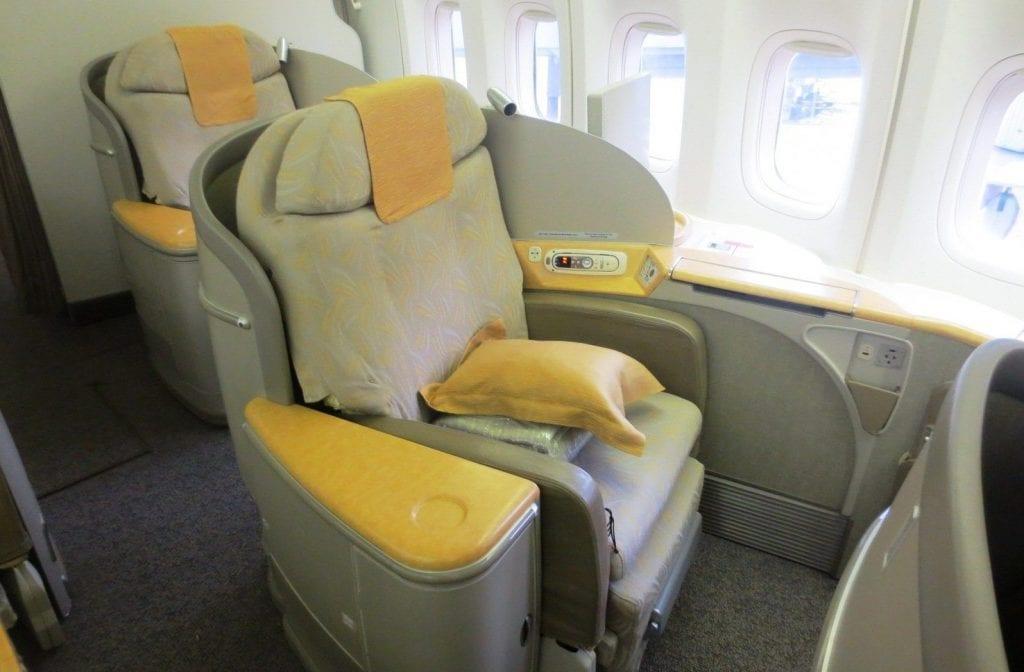 Asiana Boeing 747 First Class Sitz
