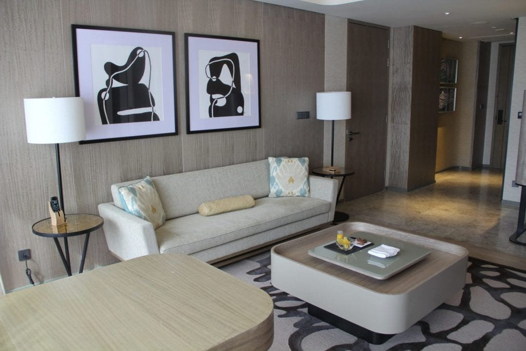 Conrad Manila King Premier Suite Living Room 4