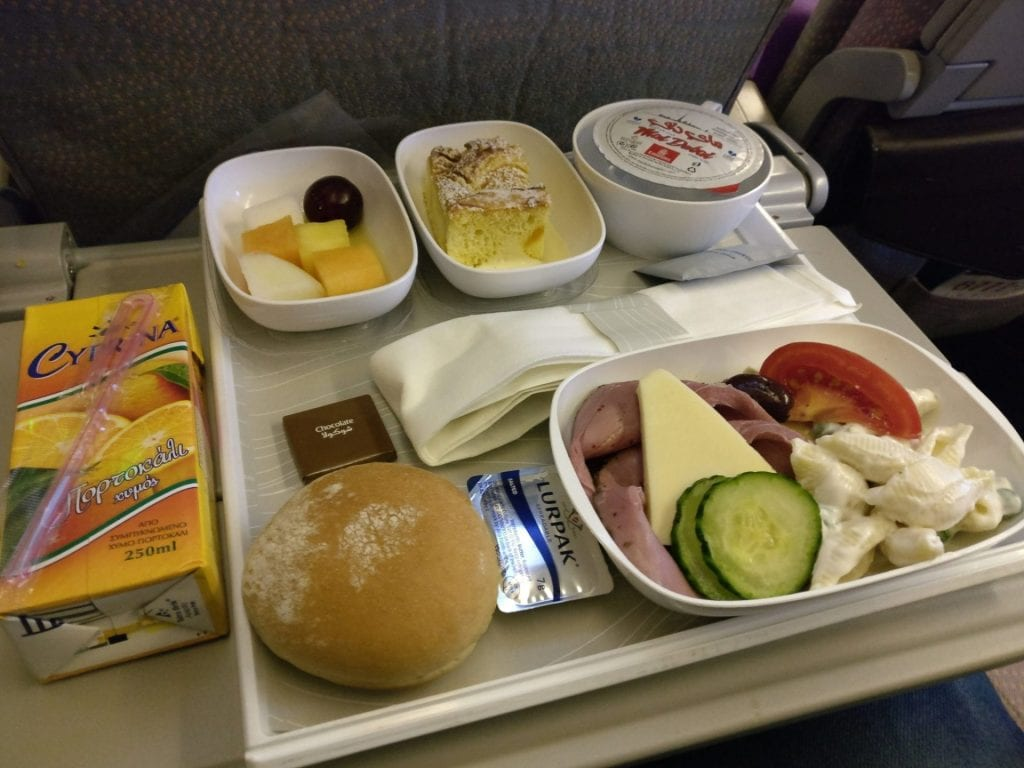 Emirates Economy Class Boeing 777 Catering