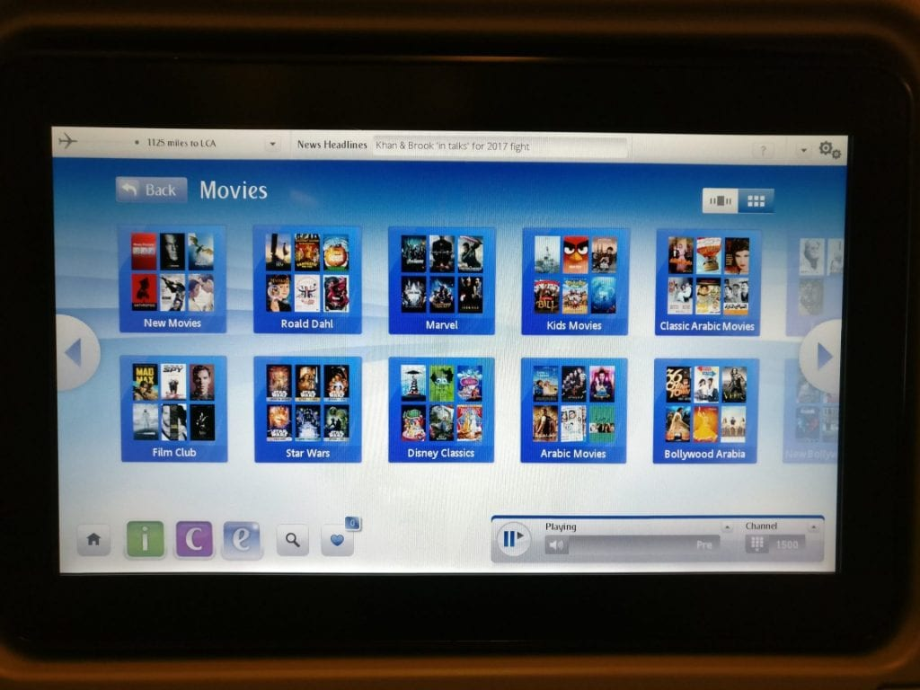 Emirates Economy Class Boeing 777 Entertainment 2