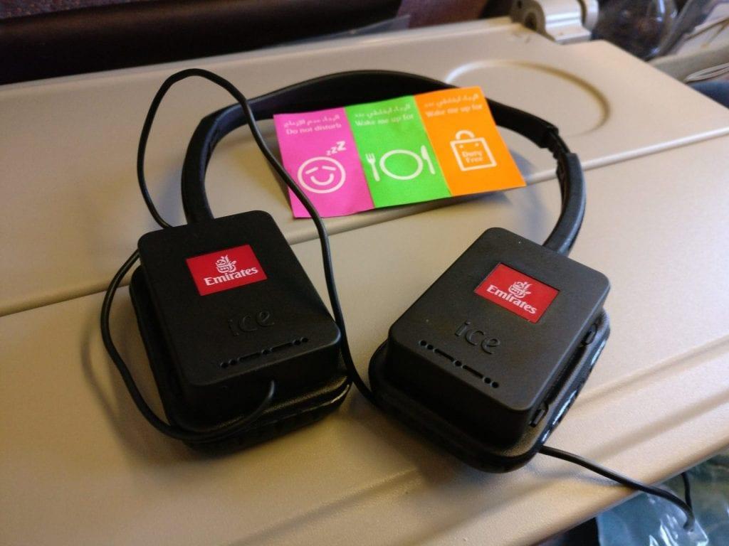 Emirates Economy Class Boeing 777 Headphones