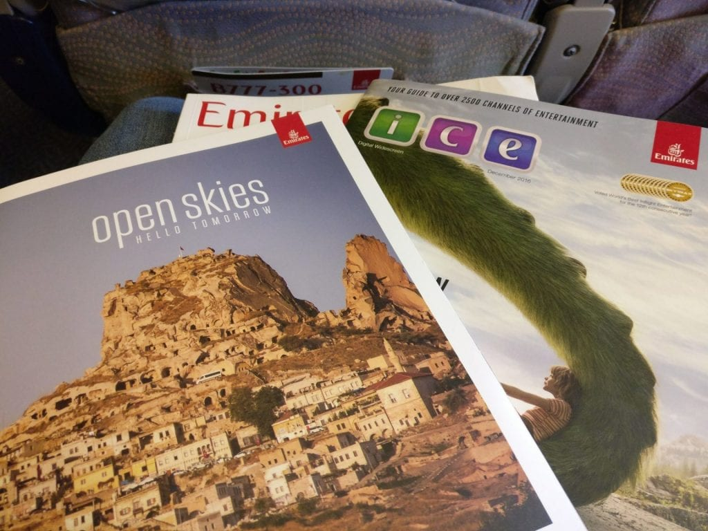 Emirates Economy Class Boeing 777 Magazines