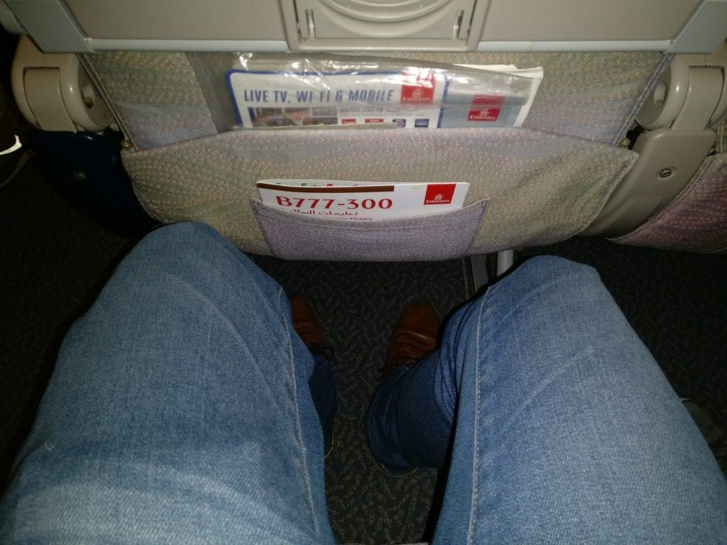Emirates Economy Class Boeing 777 Seat Pitch