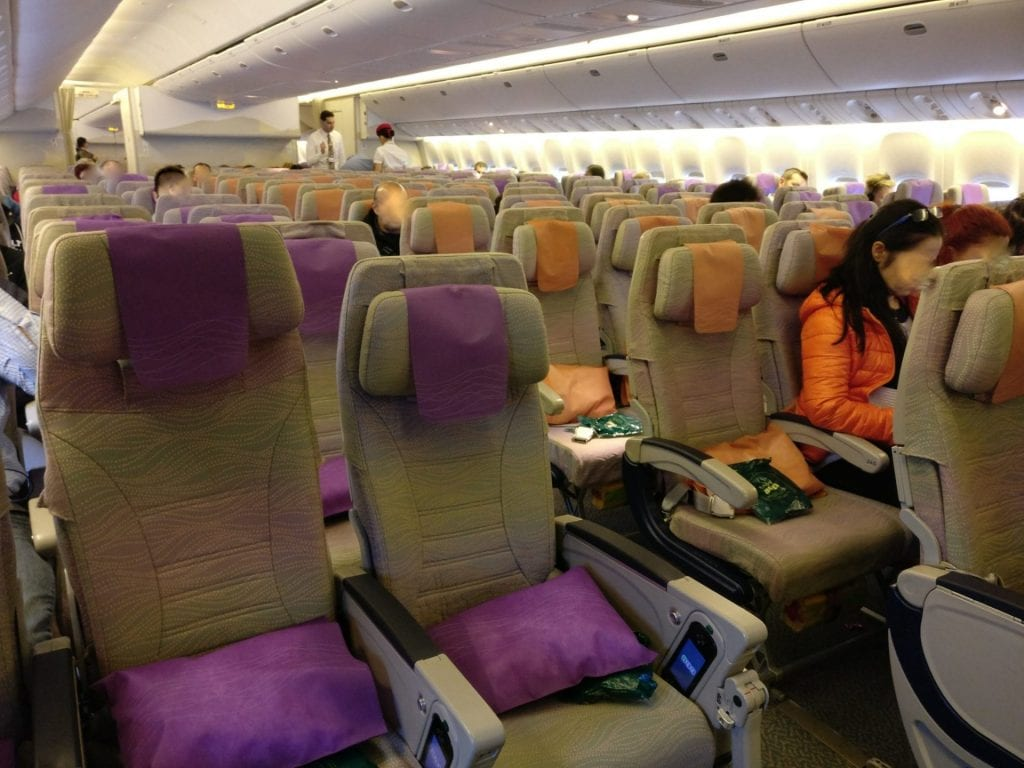 Emirates Economy Class Boeing 777 Seating