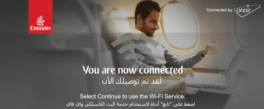 Emirates Economy Class Wi Fi