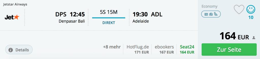 Flüge von Bali nach Adelaide