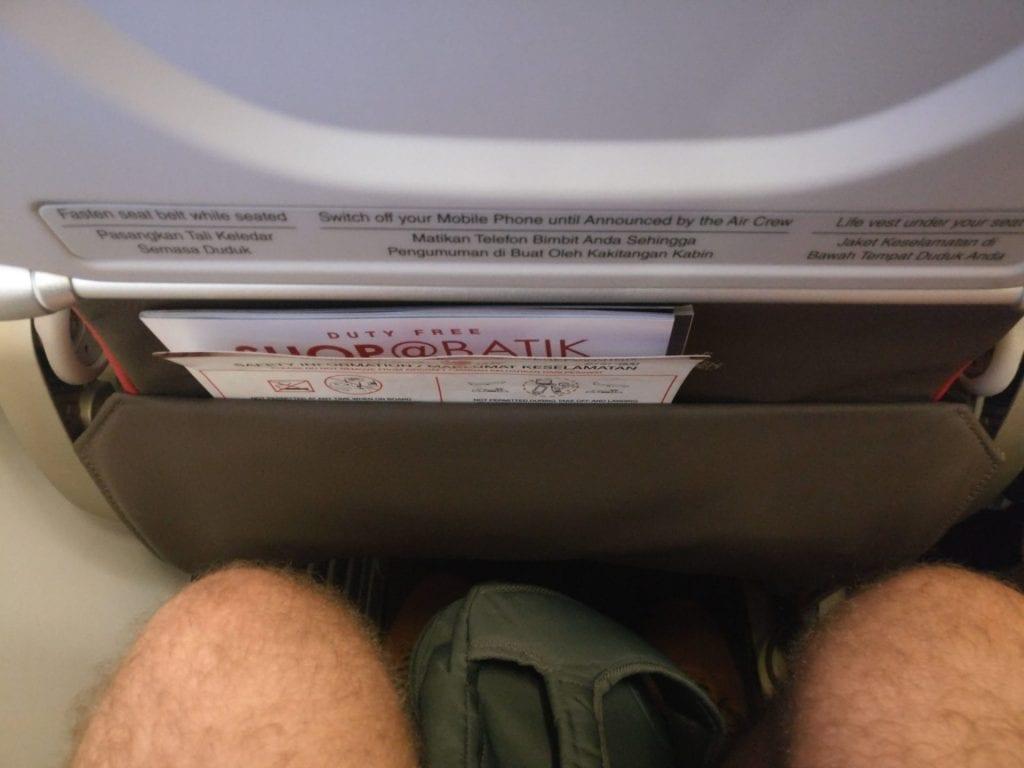 Malindo Air Economy Class Sitzabstand