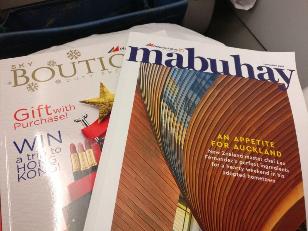 Philippine Airlines regional Business Class Magazines